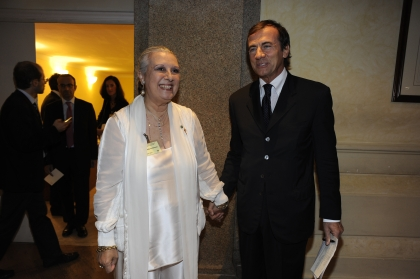 Laura Biagiotti e Michele Cucuzza