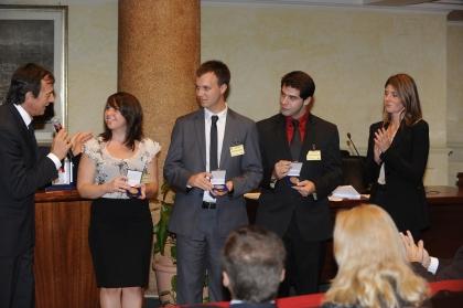 Michele Cucuzza con gli studenti americani