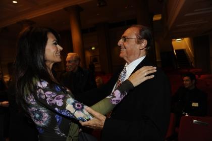 Maria Grazia Cucinotta e Renzo Arbore