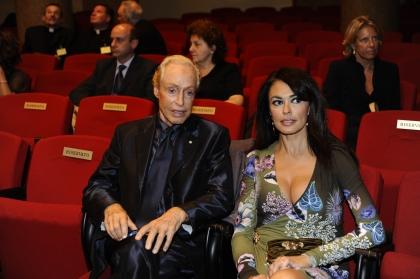 Renato Balestra e Maria Grazia Cucinotta