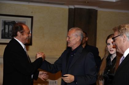 Renzo Arbore e Santo Versace