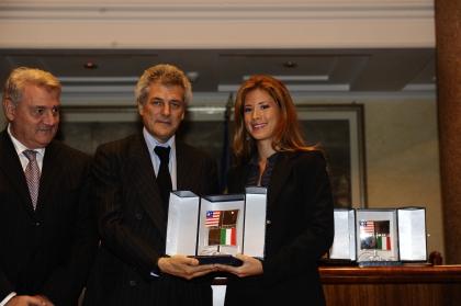Gerardo Sacco, Alain Elkann e Gabriella Giammanco